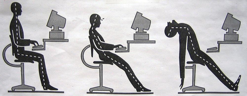 avoir la bonne position au bureau blog top office. Black Bedroom Furniture Sets. Home Design Ideas