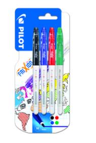 Second exemple de stylo friXion par Pilot par 4 couleurs