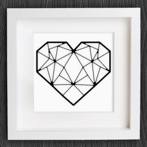 coeur 3D origami Saint Valentin