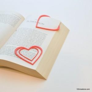 marque page cadeau saint valentin 3D